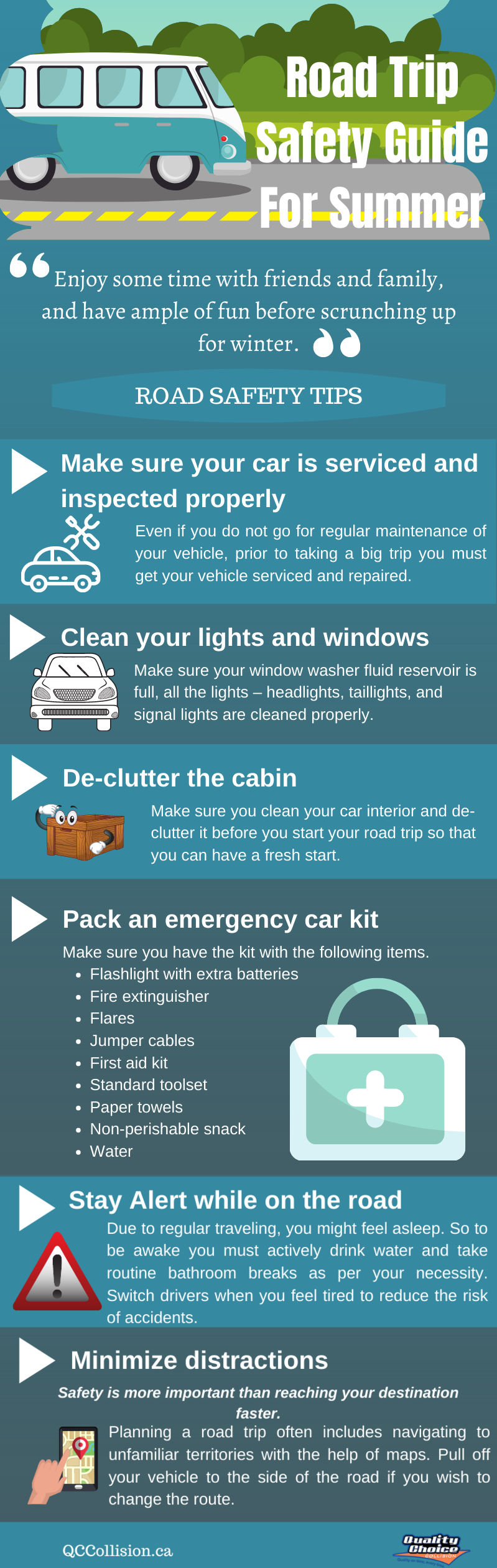 Road Trip Safety Guide For Summer