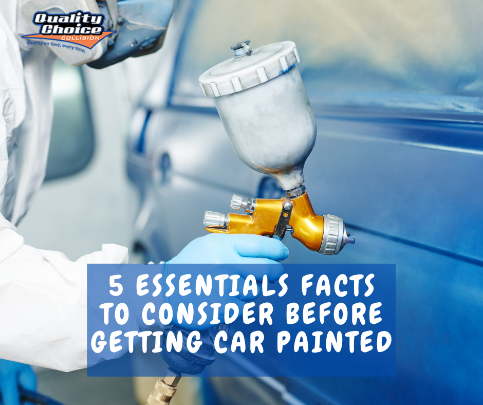 5 essentials facts to consider before getting car painted