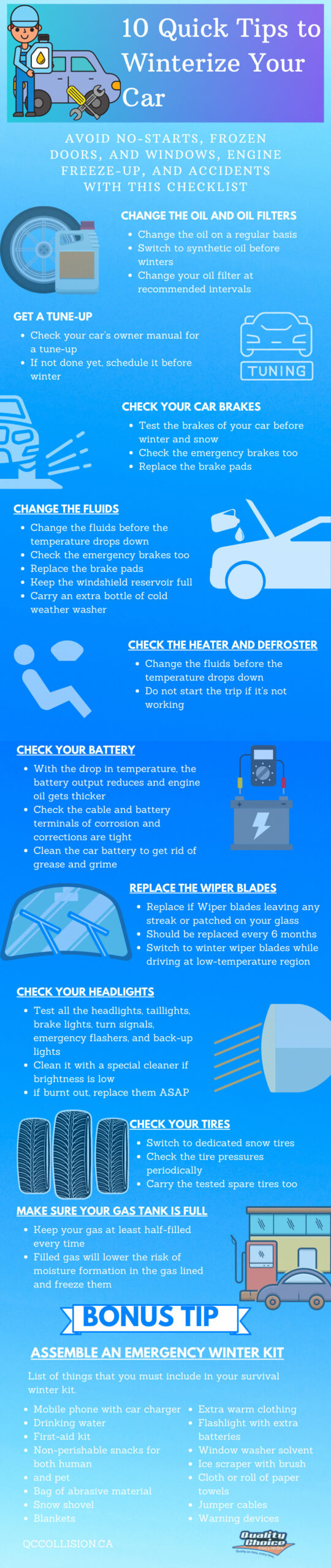 10 quick ways to get your car ready for winter