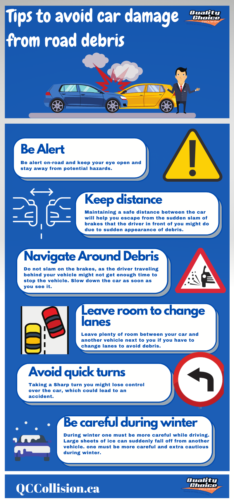 Tips to avoid car damage from road debris